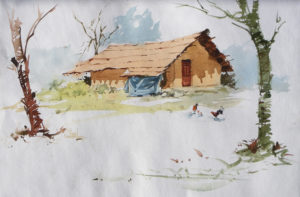 111211-house-water-colour-size-in-inches-21x14-18000